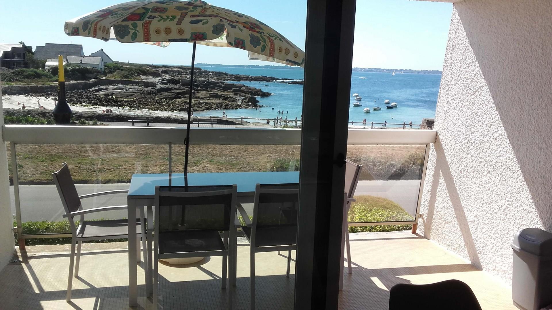 Vue du séjour sur la plage