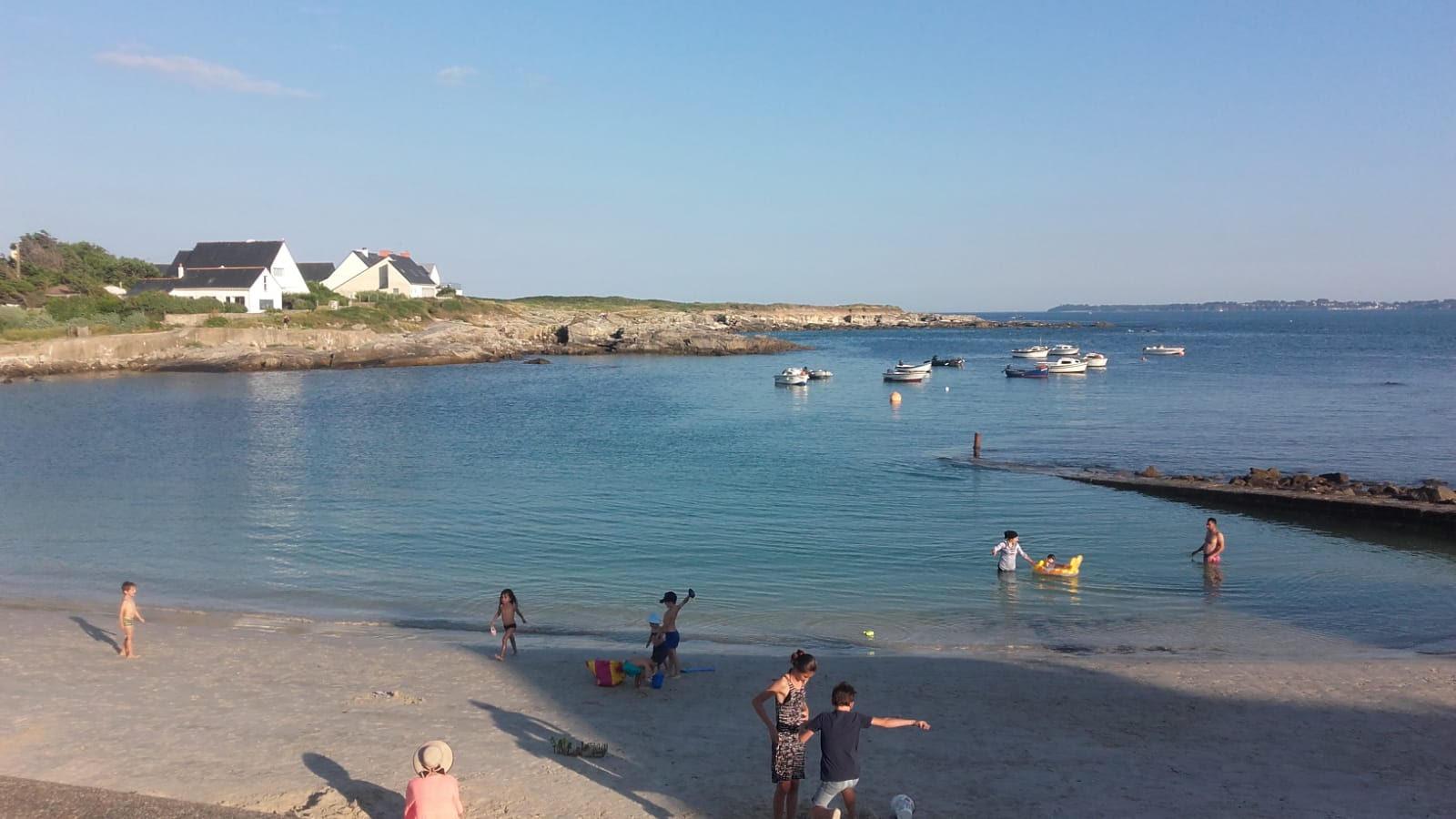 La petite plage familiale  : Le Courégant en face de la résidence